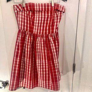 Vineyard Vines Women's Square Red White Mini Dress